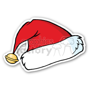 santa hat sticker v3 clipart. Royalty-free image # 400386