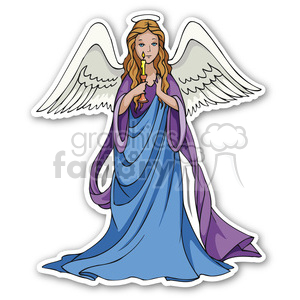 Christmas Angels Clipart.Christmas Angel Sticker Clipart Royalty Free Clipart 400401