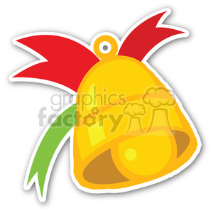 christmas bell sticker clipart. Royalty-free image # 400417