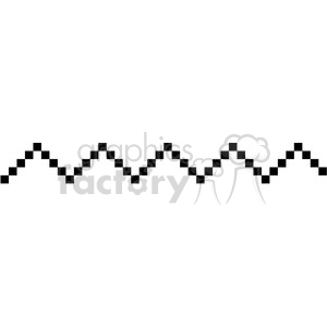 8bit chevron line vector art clipart. Royalty-free image # 400470