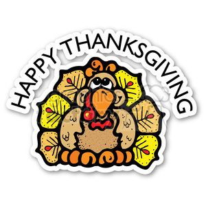 happy+thanksgiving thanksgiving holidays turkey turkeys stickers