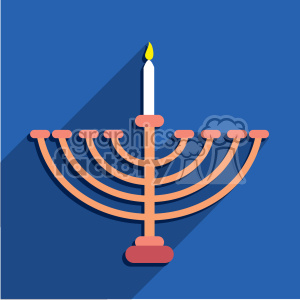 hanukkah menorah flat vector art clipart. Royalty-free image # 400580