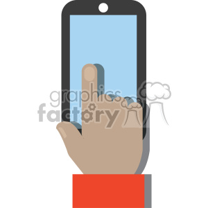 asian hand holding device no background flat design vector art clipart. Royalty-free image # 400620