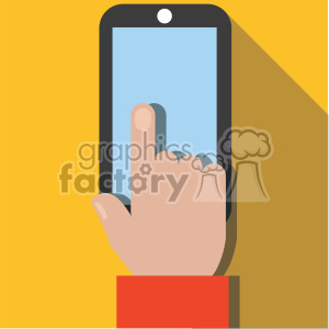hand people hands flat+design device iphone ipad phone technology white apps yellow