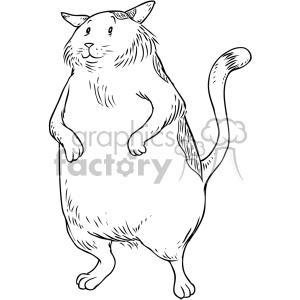 fat cat character vector illustration clipart. Royalty-free image # 400660