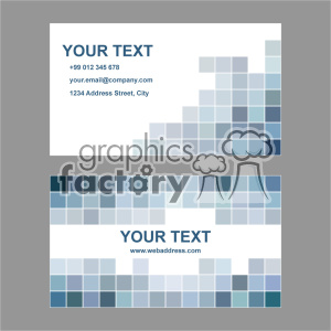 vector business card template set 022