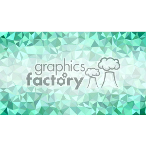 vector business card template shades of ocean green polygon geometric middle text design clipart. Royalty-free image # 401955