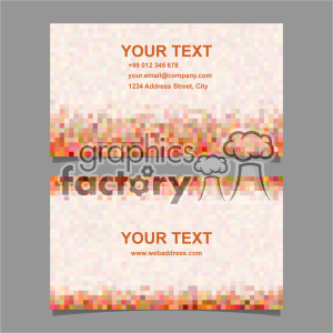 vector business card template set 059 clipart. Royalty-free image # 401965