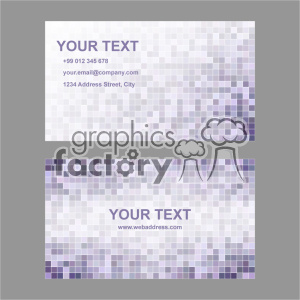 vector business card template set 018 clipart. Royalty-free image # 401970