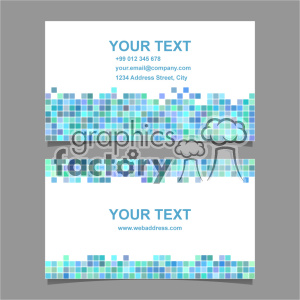 vector business card template set 051