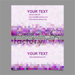 vector business card template set 061 clipart. Royalty-free image # 401985