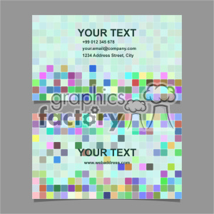 vector business card template set 070 clipart. Commercial use image # 401990