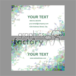 vector business card template set 046 clipart. Commercial use image # 402000