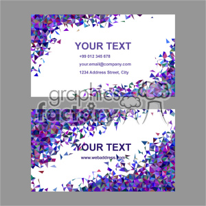 vector business card template set 045 clipart. Commercial use image # 402005