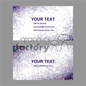 vector business card template set 044 clipart. Commercial use image # 402010