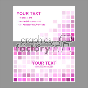 vector business card template set 002 clipart. Commercial use image # 402015