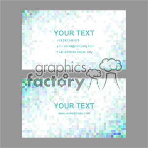 vector business card template set 049 clipart. Commercial use image # 402020