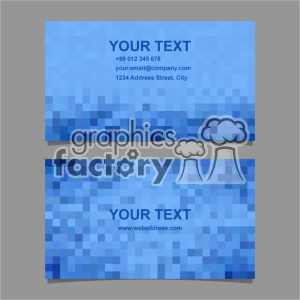 vector business card template set 063 clipart. Royalty-free image # 402030