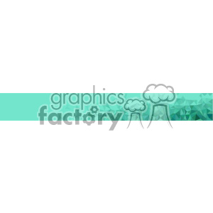 vector green small geometric half banner background clipart. Commercial use image # 402055