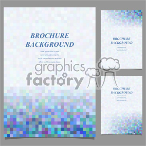 vector letter brochure template set 041 clipart. Royalty-free image # 402115