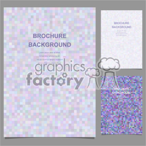 vector letter brochure template set 001