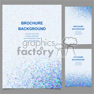 vector letter brochure template set 016 clipart. Royalty-free image # 402145