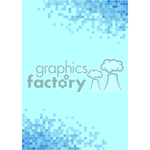 shades of blue pixel vector brochure letterhead document top bottom background template clipart. Royalty-free image # 402150