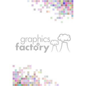 shades of colors pixel vector brochure letterhead document bottom top background template clipart. Royalty-free image # 402185
