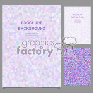 vector letter brochure template set 007 clipart. Commercial use image # 402195