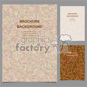 vector letter brochure template set 002 clipart. Royalty-free image # 402200
