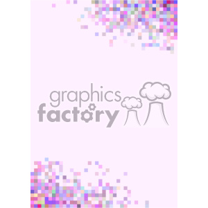 shades of pink pixel vector brochure letterhead background template clipart. Royalty-free image # 402220