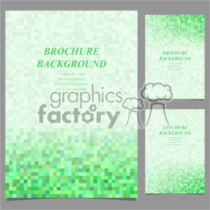 vector letter brochure template set 037 clipart. Commercial use image # 402270