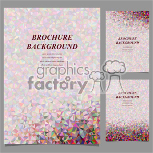 vector letter brochure template set 031 clipart. Royalty-free image # 402275