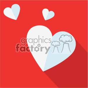 valentine flying hearts flat design vector icon art clipart. Commercial use image # 402289