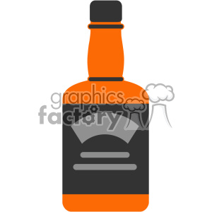 vector whiskey bottle flat design svg cut files