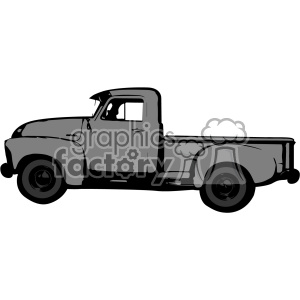 old 1954 vintage pickup truck profile vector image clipart. Royalty-free image # 402339