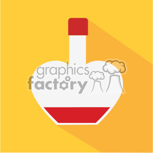 wine bottle icon for valentines vector art flat design clipart. Royalty-free image # 402377