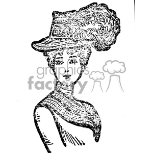 1900 women vintage vintage 1900 vector art GF clipart. Royalty-free image # 402457