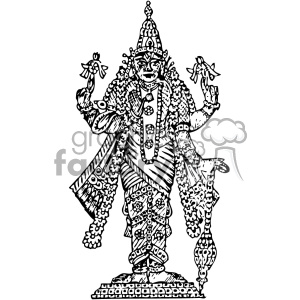 Vishnu vintage 1900 vector art GF clipart. Royalty-free image # 402517