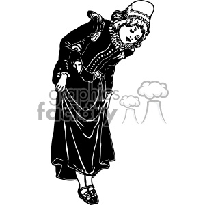 Lady Showing Shoes 1900s sexy vintage 1900 vector art GF clipart. Royalty-free image # 402552
