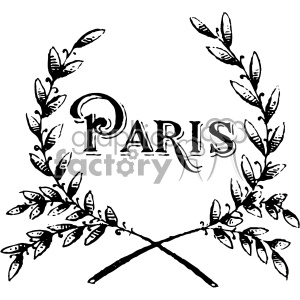 vintage paris grains vector vintage 1900 vector art GF clipart. Royalty-free image # 402582