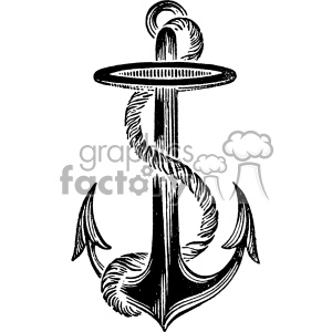 vintage anchor vector vintage 1900 vector art GF clipart. Commercial use image # 402592