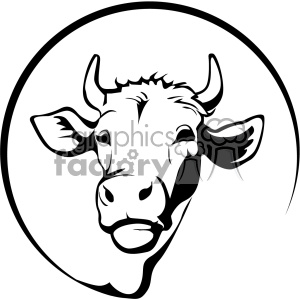 farming dairy cow svg cut file vector outline clipart. Royalty-free image # 402612