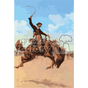 frederic remington vector art bronco buster vector art GF clipart. Royalty-free image # 402654