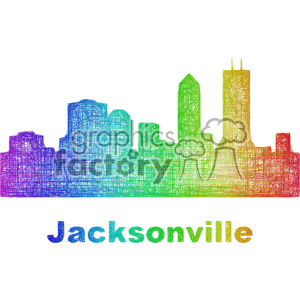 city skyline vector clipart USA Jacksonville clipart. Commercial use image # 402667
