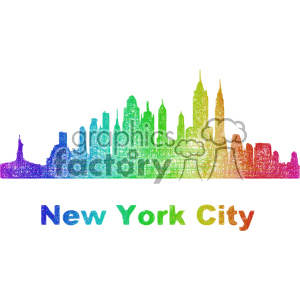city skyline vector clipart USA New York clipart. Commercial use image # 402707
