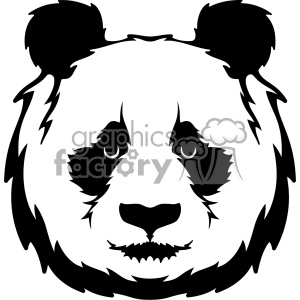 panda head svg cut file clipart. Royalty-free image # 403029