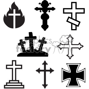 cut+file cross crosses black+white