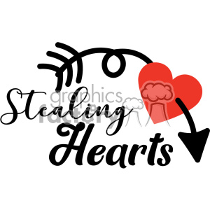 stealing hearts with arrow vector design clipart. Commercial use image # 403109