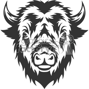 buffalo head vector art clipart. Royalty-free image # 403149